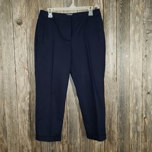 Chico's So Slimming Navy Blue Crop Pants Size .5